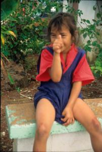 Young Maori Schoolgirl
